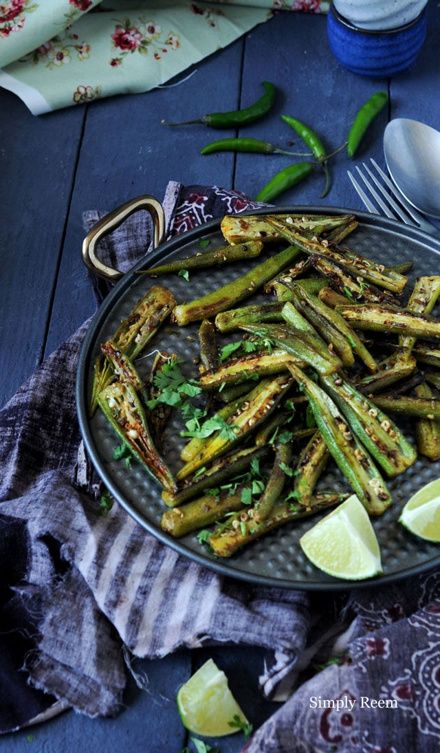 Spiced Okra! I love okra and will try this one for sure.