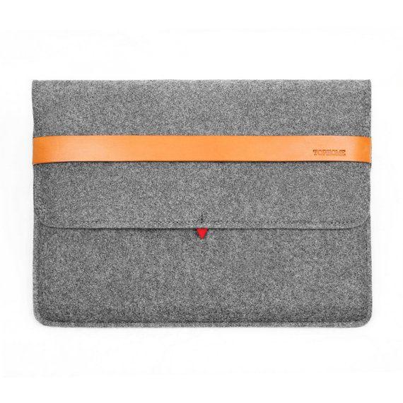 Macbook Pro 13 Retina case Wool Felt Macbook Sleeve by TopHome