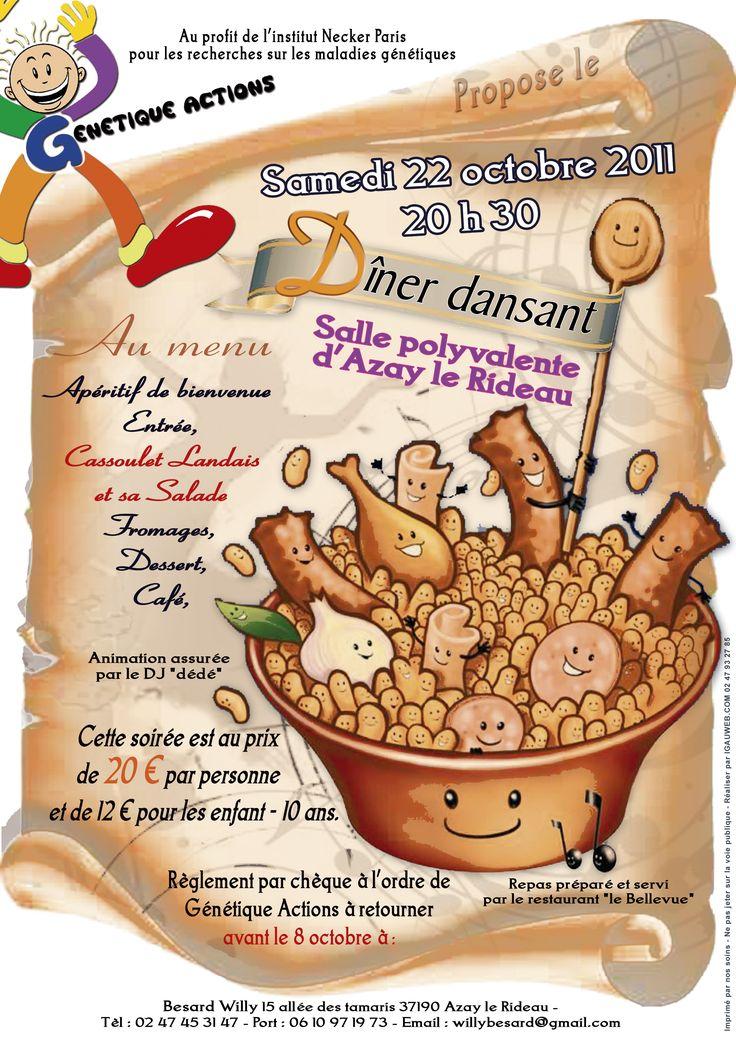 2011 - Affiche soirée cassoulet