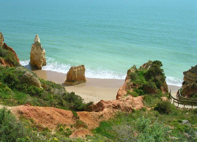 Why Portugal Is The Atlantic's Greatest Little Slice Of Heaven - via The Huffington Post 14.08.2015 | With its rich history and delicious cuisine, there's a lot to love about Portugal. But we're feeling some serious wanderlust thanks to its 750 miles of stunning coastline and Mediterranean climate -- a combo that makes a case for being some of the best beaches in all of Europe. Photo: Careanos beach, Portimão