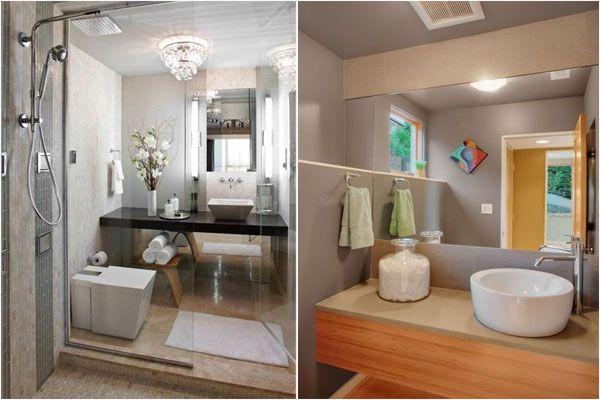 Идеальные раковины для маленьких ванных комнат. (8 фото)