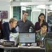 Still of Jeff Daniels, John Gallagher Jr., Emily Mortimer, Thomas Sadoski, Olivia Munn and Dev Patel in The Newsroom