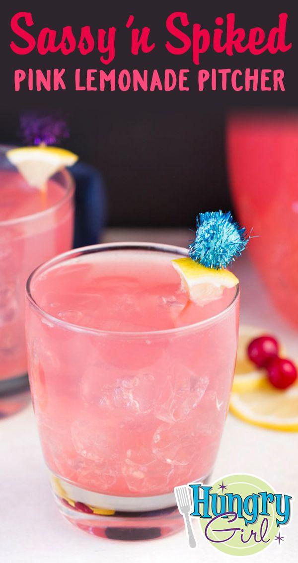 Sassy N Spiked Pink Lemonade Pitcher Recipe Recipe Pink Lemonade Vodka Pink Lemonade Recipes Lemonade Pitcher