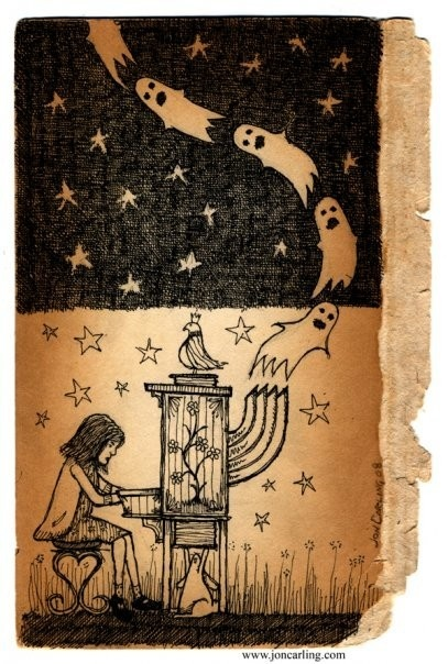 Ema and the Ghosts by joncarling on Etsy, $40.00