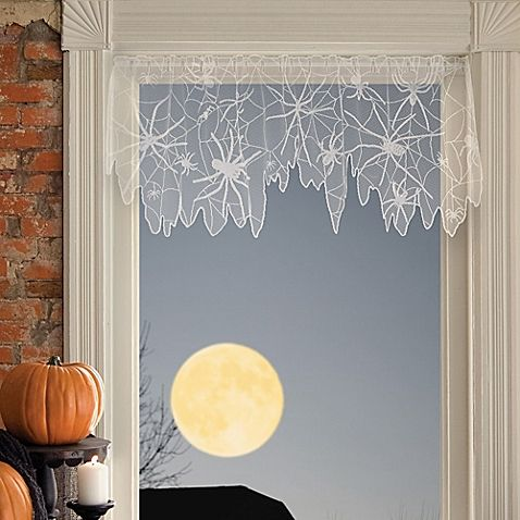 heritage lace creepy crawly 60inch x 22inch 4way decoration in goldenrod
