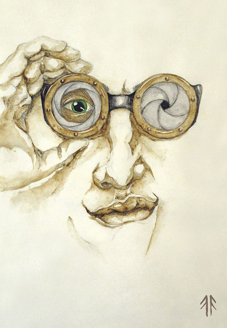 Steampunk (by Fikus), Watercolours and Pencil