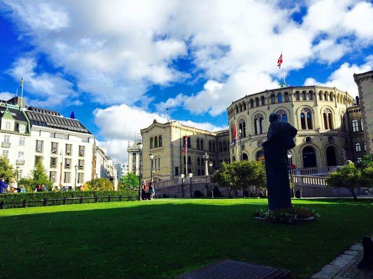 Parliamentary building Oslo, Norway
