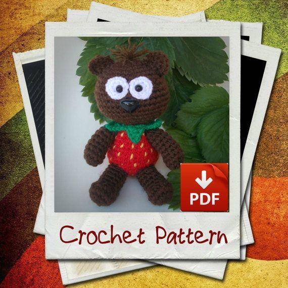 Strawberry Bear Amigurumi Crochet Pattern by LorensDolls on Etsy