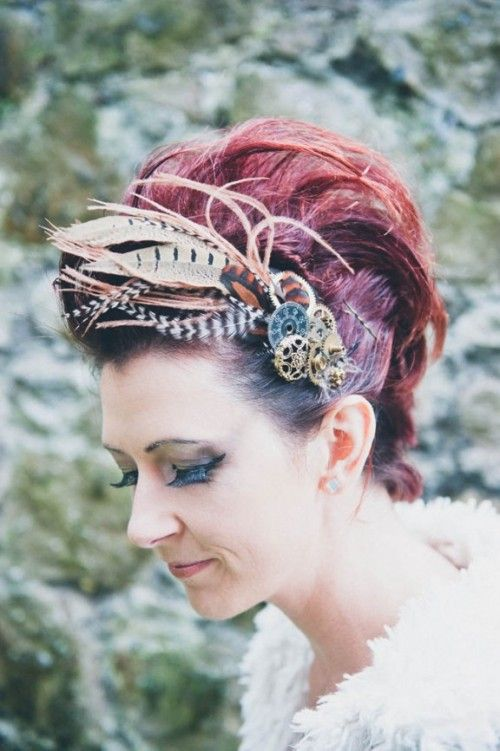 DIY Steampunk Hair Comb For A Wedding And Not Only