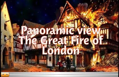 Interactive Flash - Panoramic View - The Great Fire of London