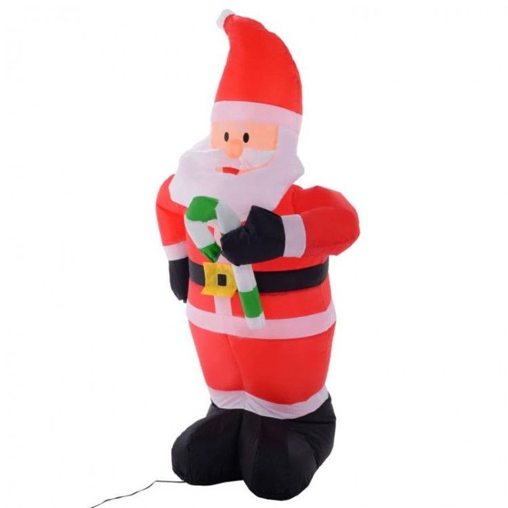 Inflatable Outdoor Christmas Decoration Winter Xmass Santa Claus LED Red Gift #InflatableOutdoorChristmasDecoration