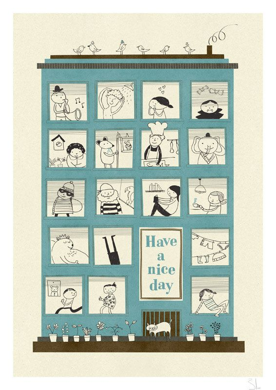 The magic house print