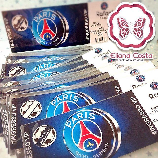 Convite ingresso Paris Saint Germain! Encomende WHATS ...