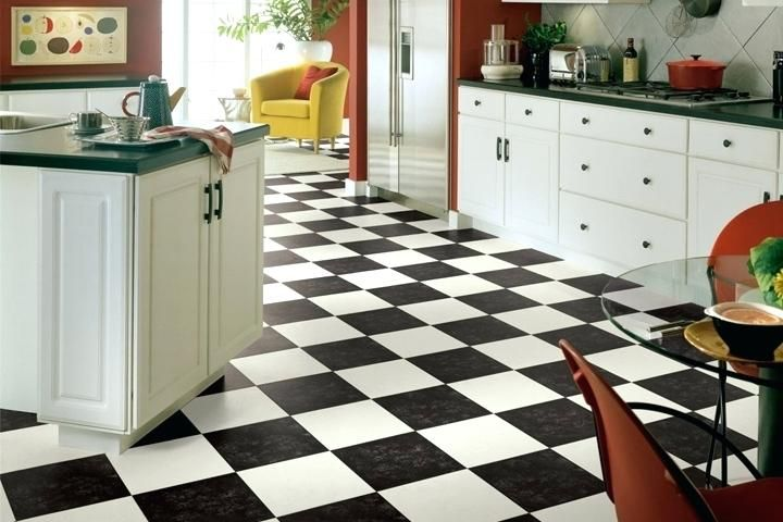 Image Result For Decorating Ideas For A Room With 12 X 12 Black And White Checkered Floor Vinyl Flooring Kitchen Kitchen Vinyl Vinyl Sheet Flooring
