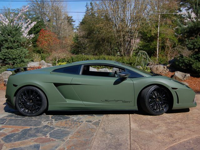 Military Green Wrapped 2008 Lamborghini Superleggerra TwinTurbo