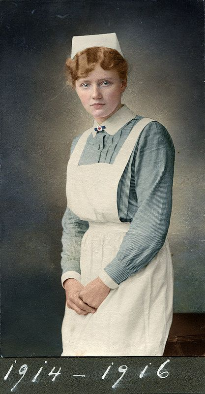 Portrait of a nurse, Germany, ca. 1915-1914