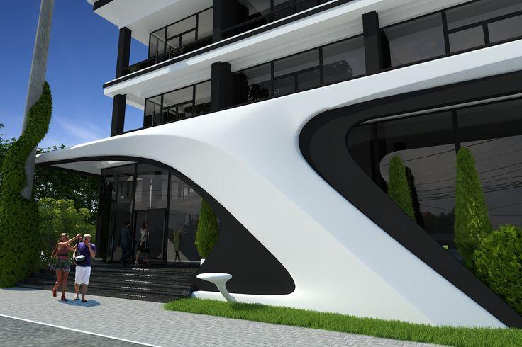 Современная гостиница в городе Одесса, Украина. Архитектурная студия STUDIO-S.