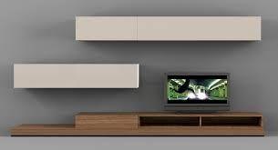 plasma tv mounted onto veneer board modern - Google Search