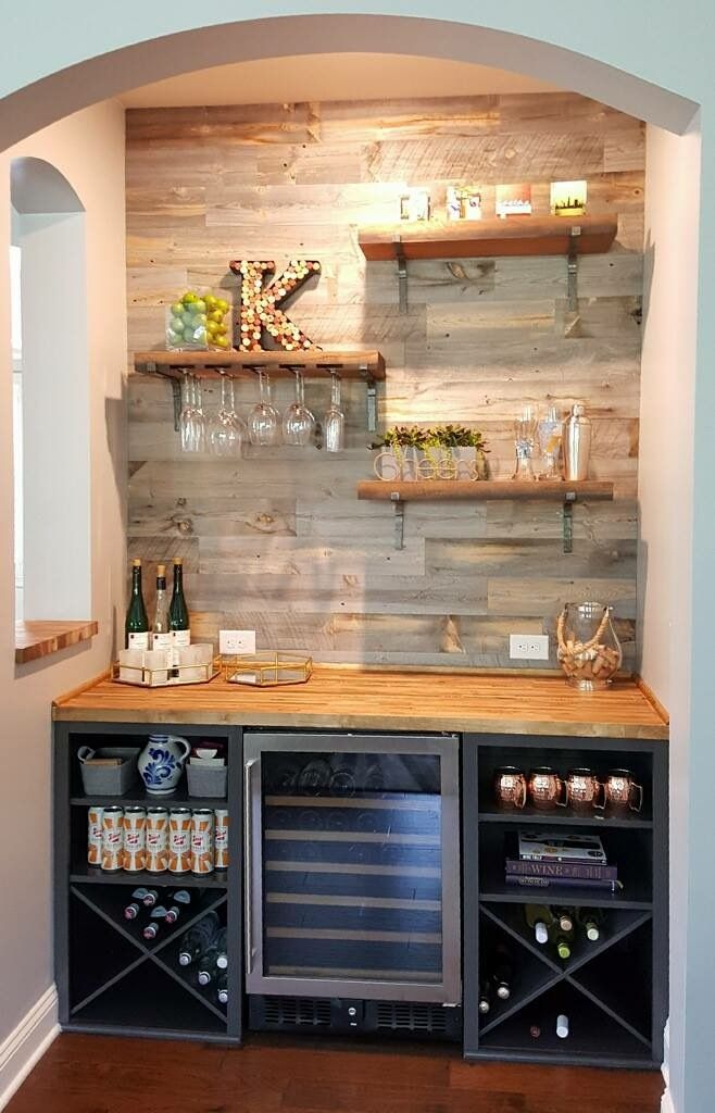 Beverage Fridge in 2020 | Bars for home, Coffee bar home ...