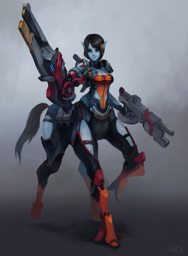 Sci-Fi+Centaur+girl+by+zgul-osr1113.deviantart.com+on+@DeviantArt