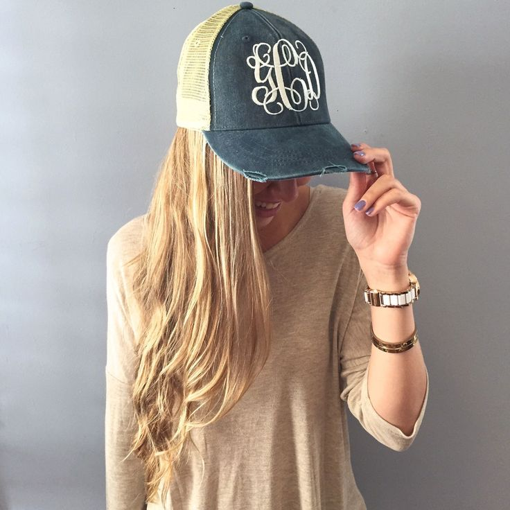http://ilovejewelryauctions.com/products/monogram-distressed-denim-hat