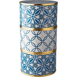 Piling Palang Cornflower Blue Lattice Cloisonné Storage Box