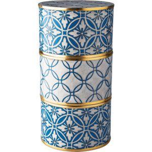 Piling Palang Cornflower Blue Lattice Cloisonné Storage Box