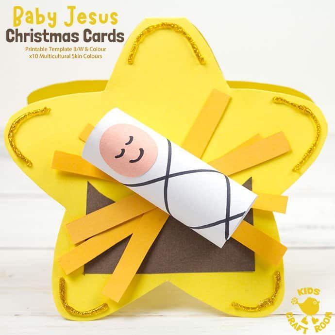 Baby Jesus Christmas Cards In 2020 Jesus Christmas Cards Christian Christmas Crafts Jesus Crafts