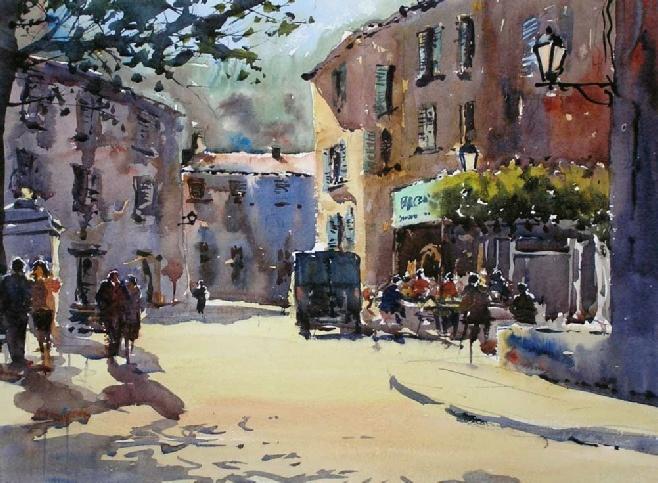 Entrecasteau, Provence, demos by Northern Ireland painter ...