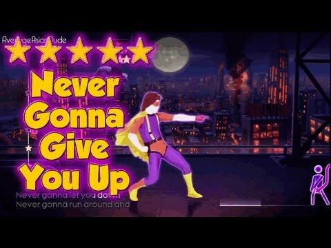 Just Dance 4 - Never Gonna Give You Up - 5* Stars - YouTube