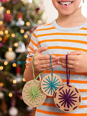 Sew Sweet Let your child practice his fine motor skills with this simple design. Cut circles from cardboard and punch a pattern with a th...