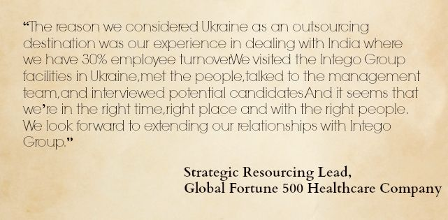 Strategic Resourcing Lead, Global Fortune 500 Healthcare Company #OutsourceToUkraine