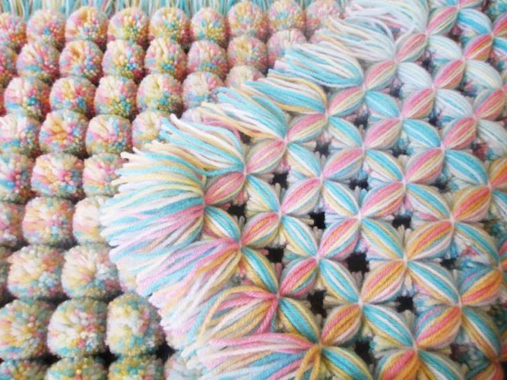 Knitting Pattern For Pom Pom Blanket : Butterfly Loom Pom Poms ! Stitched Pinterest