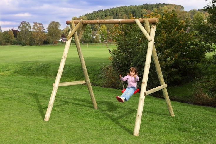 Kinderschaukel Holzschaukel Schaukelgestell Schaukelgerüst Gartenschaukel Holz in Spielzeug, Spielzeug für draußen, Spieltürme & Schaukeln | eBay!