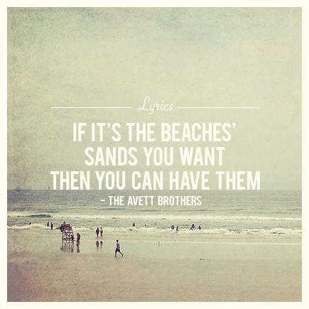 the avett brothers - if it's the beaches