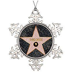 Los Angeles Christmas Ornament Hollywood Movie Star Ceramic Round Christmas Ornament