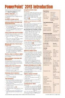 Microsoft PowerPoint 2013 Introduction Quick Reference Guide (Cheat Sheet of Instructions, Tips & Shortcuts - Laminated Card) , 978-1936220878, Beezix Inc., Beezix Inc.