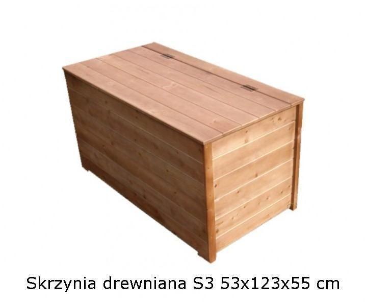 Skrzynia drewniana S3 53x123x55cm