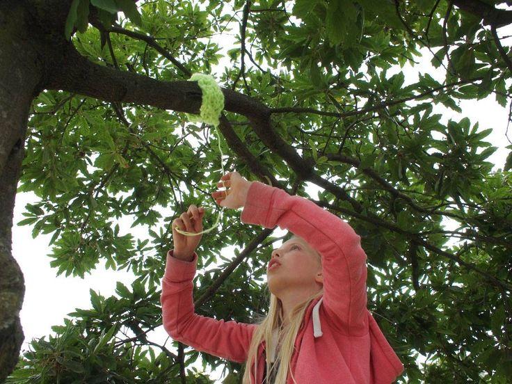 Yarn Bombing met Atelier Braakmans Van Beuningen! Naschoolse activiteit 'Lol met Wol' 2015