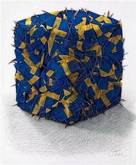 Drapeau suédois By César Baldaccini