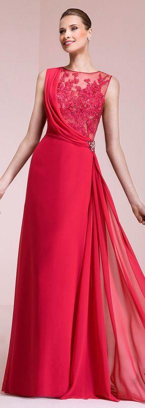 Attraktive Chiffon Jewel Ausschnitt A-Linie Ballkleider mit Spitzenapplikationen   – vestidos