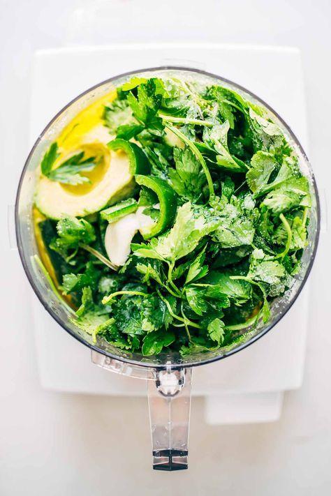 Magic Green Sauce in Food Processor
