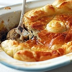 Jamie Oliver's Chicken Pie. I have made this and love to sit round the table on an evening with the family and share this delicious comfort food