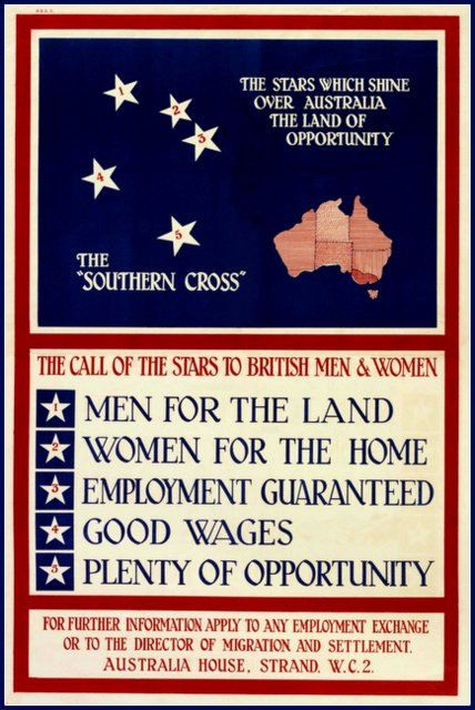Australia Immigration Poster Print 1950s by BloominLuvly on Etsy, $9.95