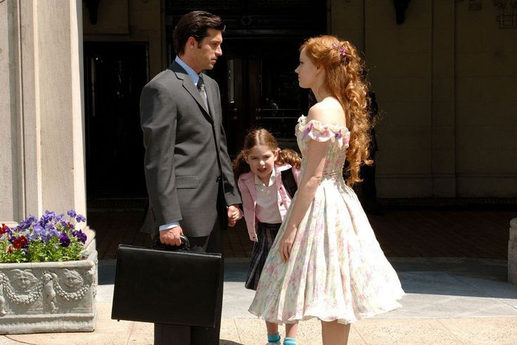 amy adams enchanted dress--and that hair provides some incentive for growing it out.