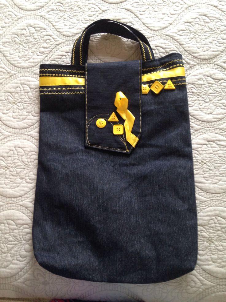 Yellow bookbag
