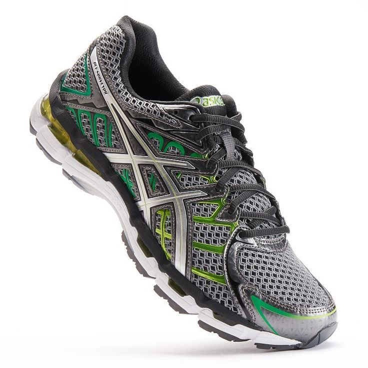 These men's ASICS running shoes let you get more out of your run. In  titanium.