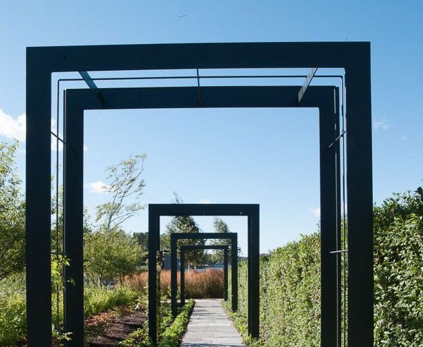 I like the simplicity and looks like you could move it around and change your design easily.   summer snow pergola :: ulf nordfjell I wonder what he means by summer snow?  Here it means a groundcover called cerastium.