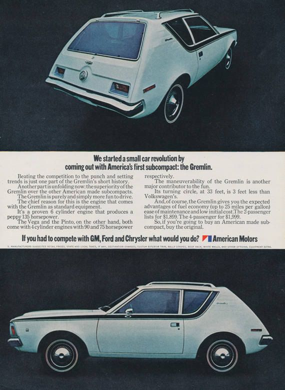 1972 AMC Levi Gremlin Car Photo Ad Automobile with Blue Denim Levi's Upholstery Vintage Advertising Art Collectible Print Wall Decor by AdVintageCom on Etsy