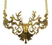 Hipster jelení náhrdelník